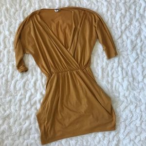 Urban Renewal Vintage Deep V Wrap Mini Dress